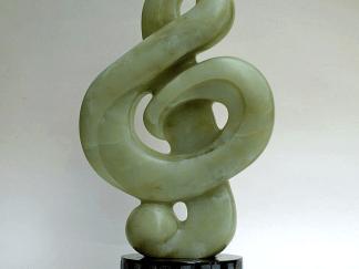 green soapstone sculpture