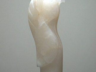 Alabaster totem style eagle figurine