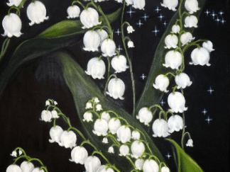 Lily of the valley painting