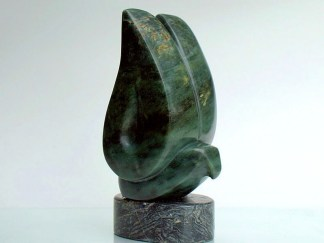 Dove stone figurine sculpture with large wings