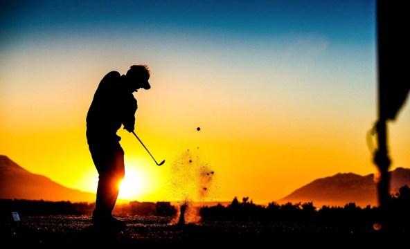 Golf during the night in Summer under the Midnight Sun.