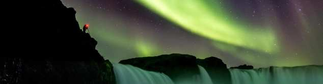 Photographing Goðafoss Waterfall and the Northern Lights