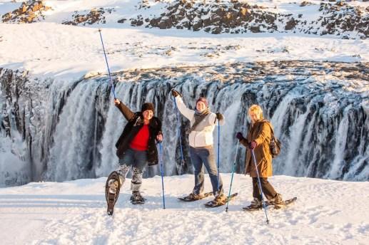 Dettifoss Waterfall Winter snowshoeing