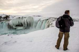 Goðafoss Waterfall Winter