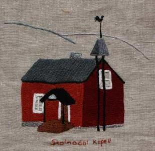Skalmodal kapell Vattenfall skänkte Johan Johanssons stuga i Nybyggeberg i Vojtjajaures dämningsområde till Tärna församling. Huset revs under våren 1962 och fraktades med lastbil till Unkervattnet och vidare med snövessla till Skalmodal. Där byggdes det upp. När vägen var nybruten till gränsen invigdes huset som kapell i Skalmodal av biskop Stig Hellsten 1967.