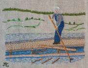 Timmerflottning Sedan slutet av 1600-talet har man flottat timmer i Sverige. Flottning eller timmerflottning var förr ett vanligt sätt att transportera timmer från skogarna i inlandet till sågverken, som ofta låg vid kusten. Timret fick följa med vattnet i älvarna och för att hindra att timret fastnade i stora anhopningar, brötar, fanns arbetare vars uppgift var att se till så timret kom fram. Dessa kallades flottare. Under 1800-talet expanderade sågverksindustrin kraftigt och flottningsverksamheten ökade. Ända fram till mitten av 1900-talet hade flottning av timmer stor betydelse för den svenska industrin så också i Örnsköldsvik med omnejd.