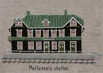 Mellansel station Mellansel järnvägsstation stod färdig 1 november 1892. Setterstrand fick tjänsten som förste stationsmästare. Vintern 1893 sjönk temperaturen ner till 43 minusgrader. Inomhus var det 10 minusgrader i sovrummet. Orsaken var att man hade byggt med timmer som inte hade torkat. Hela byggnaden tätades den kommande sommaren. Järnvägshuset är än i dag en stor prydnad för Mellansel.