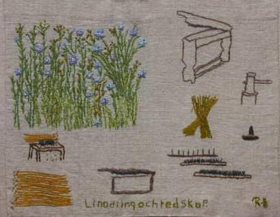 Linodling och redskap Under 1700- och 1800-talet var Norra Ångermanland, och Nätra socken( sydväst om Örnsköldsvik) i synnerhet, en förebild i hela landet inom linslöjden. Den stora linhanteringen i Nätra gav bygden välstånd och linet som odlades i Ångermanland ansågs vara bland det bästa i världen eftersom det kvalitetsmässigt ägde både styrka, finhet och längd. Det finaste linnet såldes av köpmännen i städerna men den stora tillgången på linne gav bönderna större utrymme för egen handel. Både sörköreriet och linnehanteringen hade en glansperiod under decennierna kring 1800. Försäljning av lärft utgjorde ett betydande inslag i sörkörarnas handel. Det sägs att det vid den här tiden fanns vävstolar i varje hus och 1827 såldes 170 000 alnar linneväv till ett värde av 100 000 riksdaler.