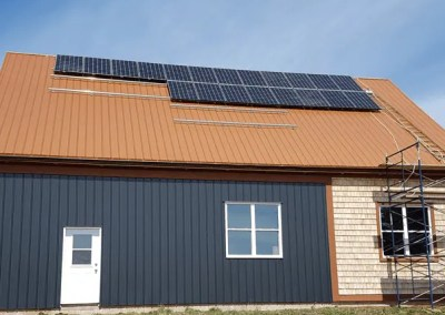 Grid-Tied Solar PV on New Custom Barn
