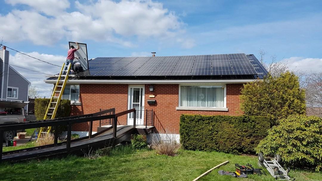 gridtied solar installation