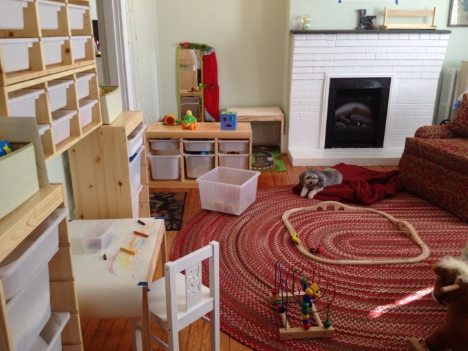 art area and reading nook