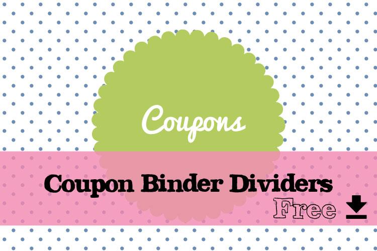 Free printable coupon binder dividers
