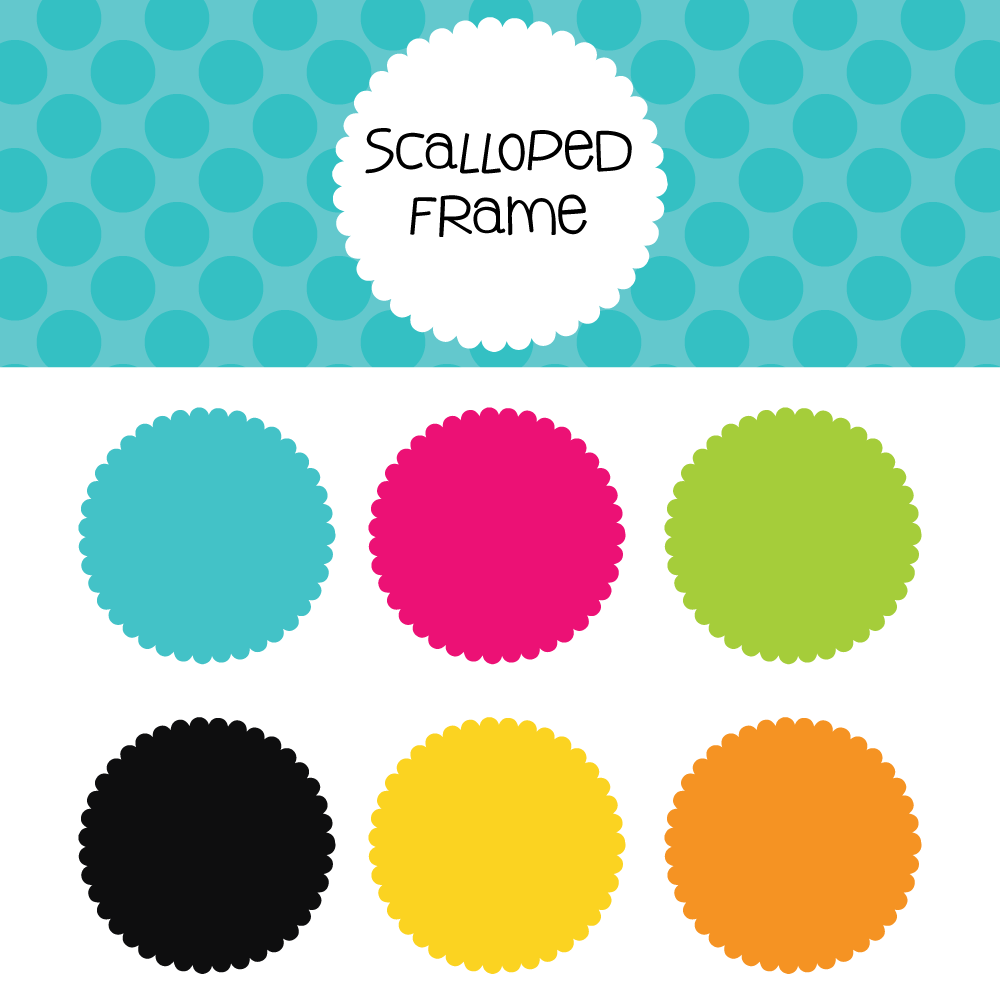 Scalloped Frame Free Download- 300 dpi png files