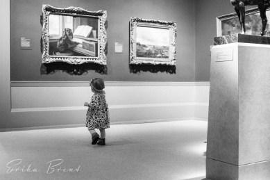 Toddler and an art museum