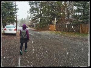 The snow kept falling