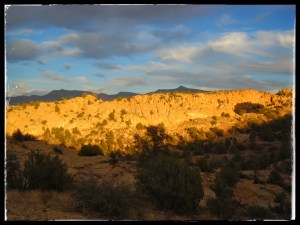 Warm sun on the Grand Enchantment Trail