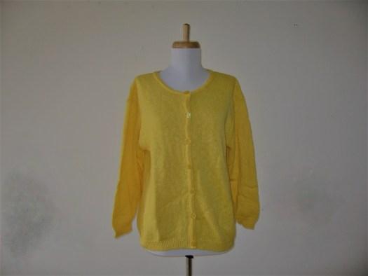 #4260 100% Cotton Slub Yarn Cropped Crew Cardigan - Call for Color Availability