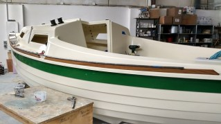 Closer look at the S17 being prepared for her owners. The boat will be a Pocket Yacht Palooza in Port Townsend, WA, 11 June '16 and then be collected by her owners after the show.
