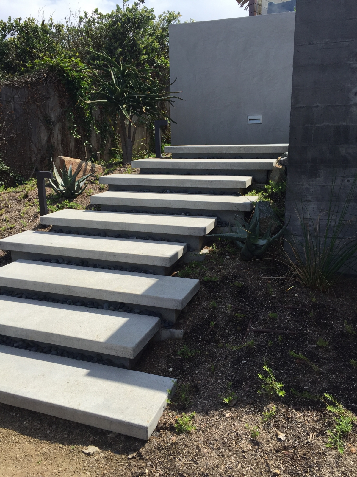 Floating stairs » Sage Outdoor Designs on Backyard Stairs Design id=18093
