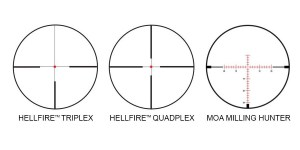 SIG Sauer Whiskey5 3-15x44 reticles