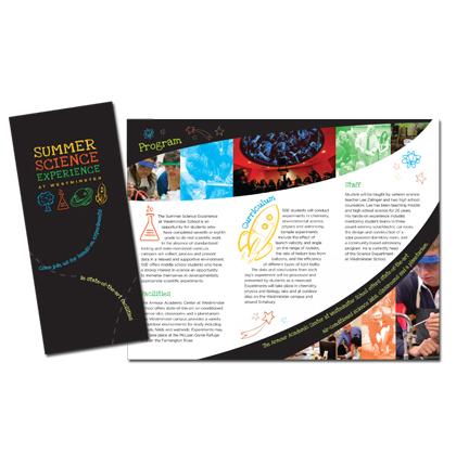 Westminster Summer Sciences Brochure | Sage River Graphics