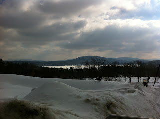 The Stockbridge Bowl seen from Kripalu in winter