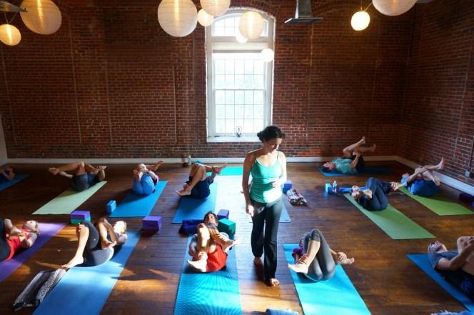 Sage's popular Yoga for Athletes class, Carrboro Yoga Co.