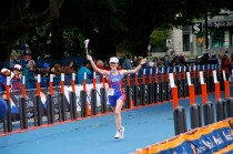 Finish line, 2008 Short-Course World Triathlon Championships