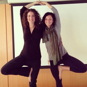 With Terry, my 2013 assistant, at Kripalu