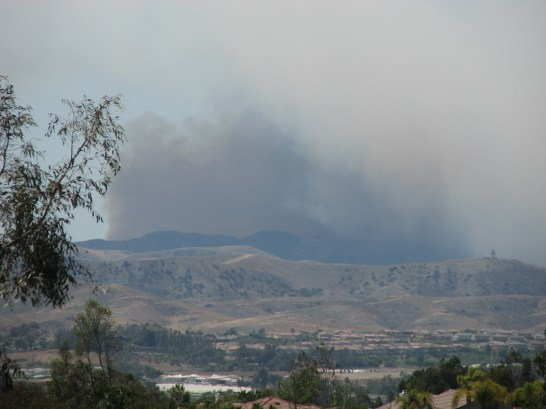 New fire breaking out on Camp Pendleton on Thursday. First smoke came up maybe 10 minutes ago.