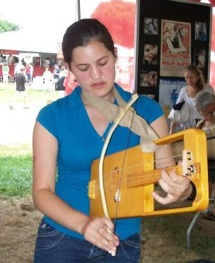 Teaching crwth, an early violin