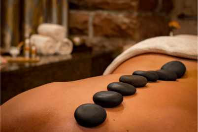 Traditional hot stones and aromatherapy upgrades,