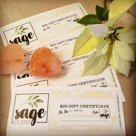 Gift Certificate Coupon Massage Marble Falls Sage Studio