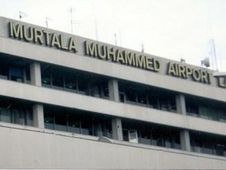 Water Floods Murtala Mohammed International Airport, Lagos Lobby During Rainfall