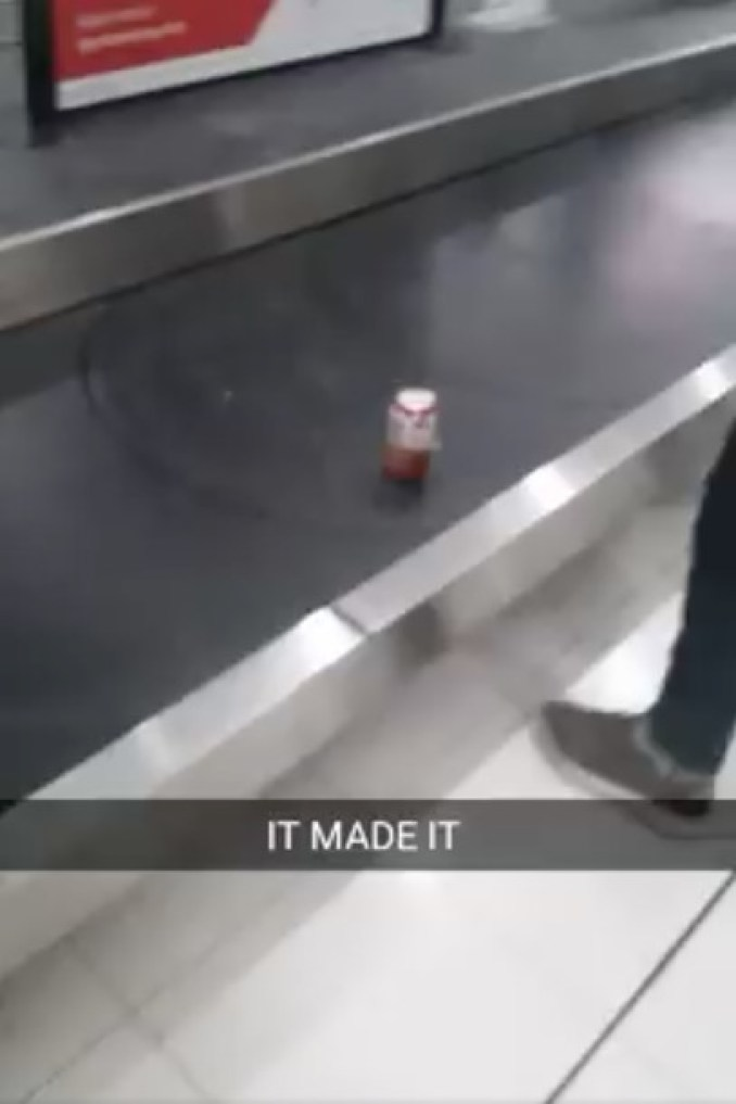 Passenger Checks In A Can Of Beer As His Luggage In An Australian Plane