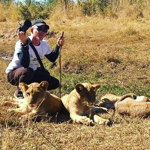 Afrotourist Niyi David Chills Out With The Lions Of Zimbabwe