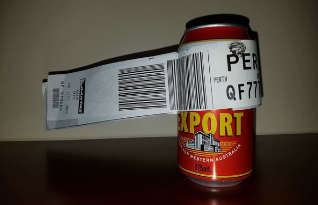 Passenger Checks In A Can Of Beer As His Luggage In An Australian Flight
