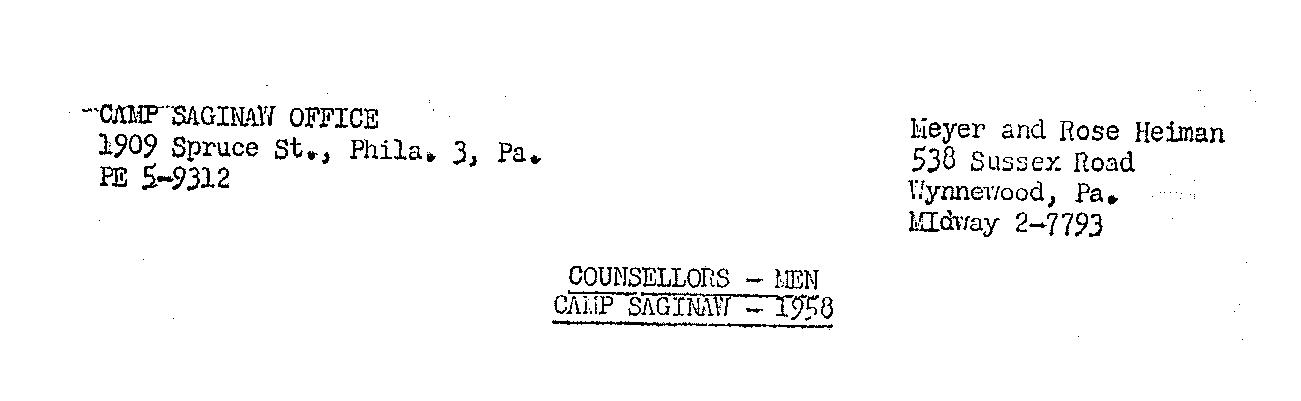 Saginaw Counselor Rosters 1957 to 1972 – Saginaw Super ...