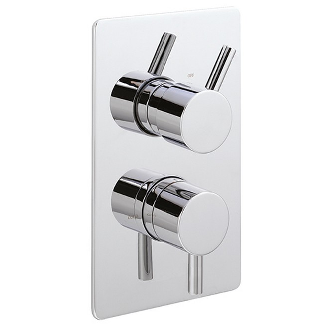 piazza concealed thermostatic shower valve chrome