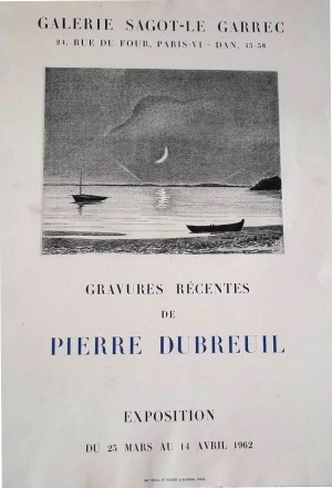 Exposition Pierre Dubreuil - Avril 1962