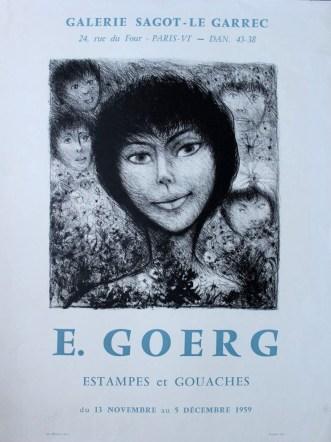 Exposition Édouard Goerg - Novembre 1959