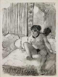 Edgar Degas - Repos sur le lit - vers 1879 - Monotype