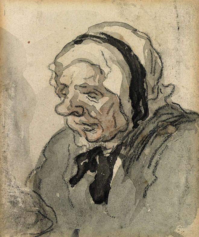 Honoré Daumier - Vieille femme