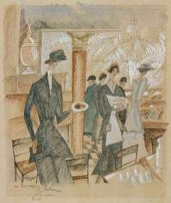 Jean-Émile Laboureur - Chez le pâtissier