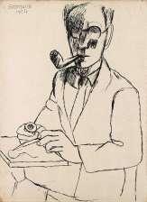 Marcel Gromaire - Autoportrait à la pipe