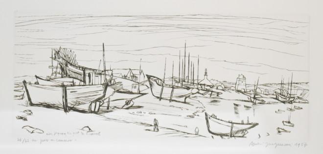 André Jacquemin - Au port de Camaret