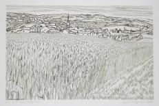 André jacquemin - Les blés devant Frizon