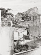 François Houtin - Rio - étude n°14 - Le Corcovado