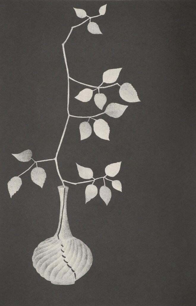 Mario Avati - Branche de murier dans une carafe