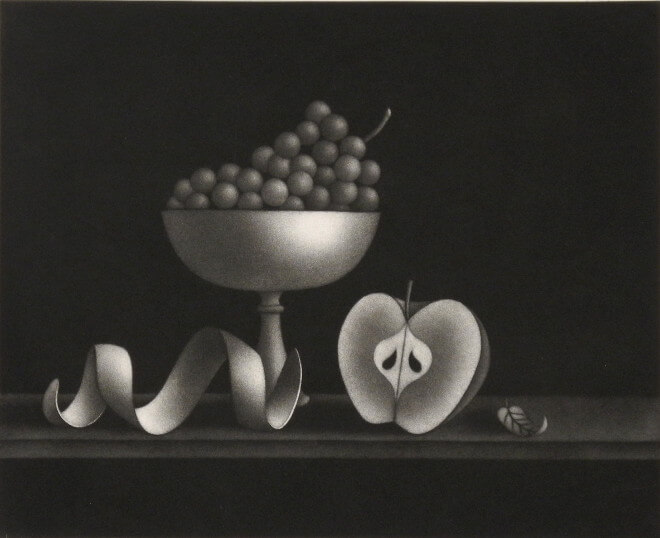 Mario Avati - Nature morte à la feuille timide